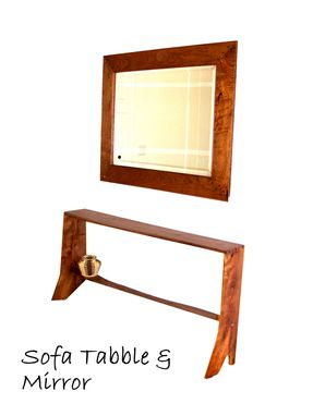 Custom Made Sofa Table And Mirror