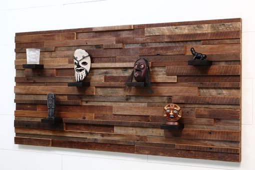 Custom Made Wood Wall Art With Wood Shelves 60x30