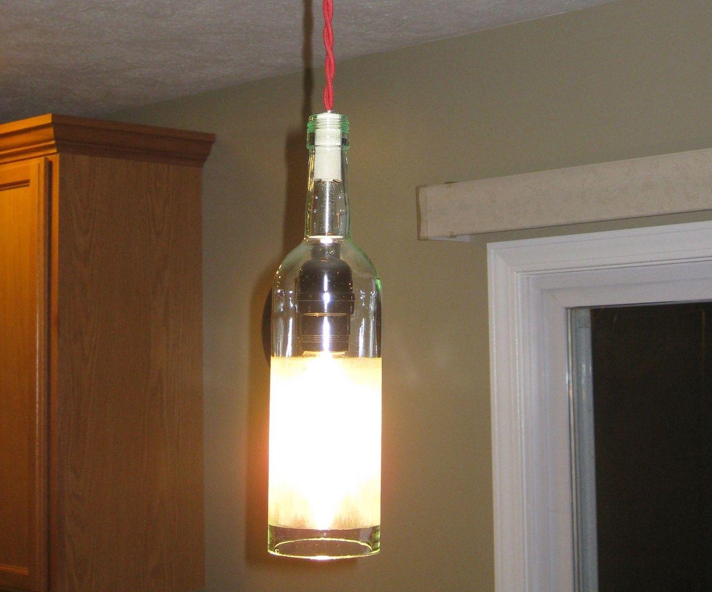 Custom made wine bottle pendant light by milton douglas lamp co custom made wine bottle pendant light by milton douglas lamp co custommade aloadofball Gallery