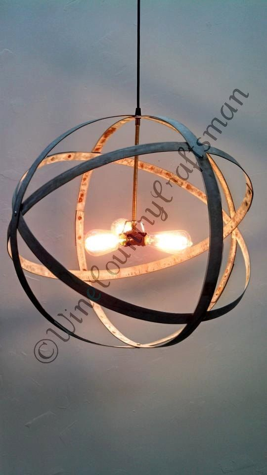 Custom Made Atom Premier Wine Barrel Ring Pendant Chandelier