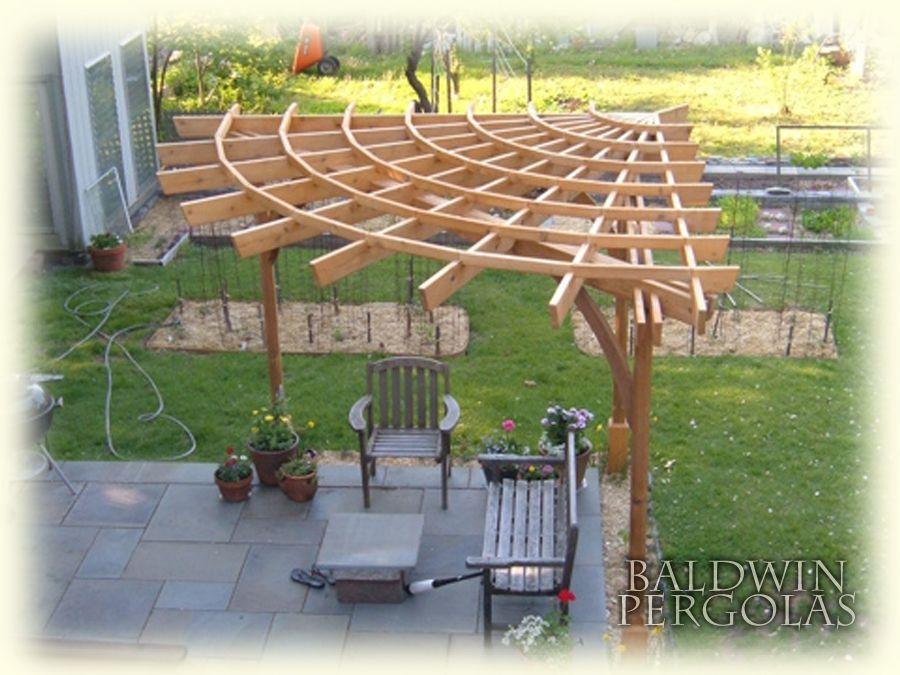 handmade custom startburst pergola by baldwin pergolas. Black Bedroom Furniture Sets. Home Design Ideas