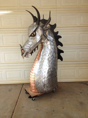 Custom Made 6 Ft Tall Dragon Head Sculpture