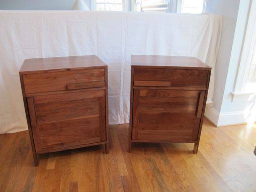 Custom Made Solid Walnut Nightstands