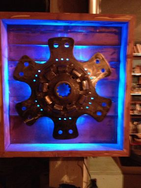 Custom Made Led-Lit Car Parts Wall Hanging