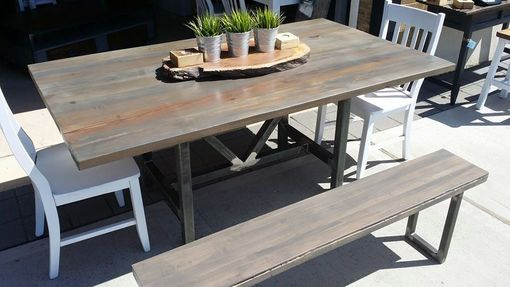 Custom Made Weathered Reclaimed Wood Table