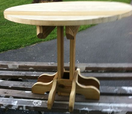 Custom Made Round Patio, Yard Or Pool Side Table