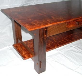Custom Made Bubinga And Wenge Coffee Table