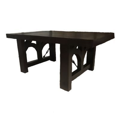 Custom Made Rustic Farmhouse Beam Dining Table