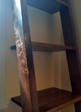 Custom Made Ladder Shelves, Leaning Bookshelf