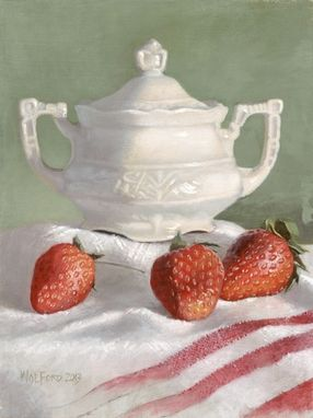 "Custom Made 'Grandmas Sugar Bowl', Acrylic On Canvas, 9"" X 12"""