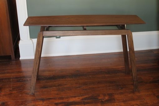 Custom Made Mid-Century Influenced Solid Walnut Table