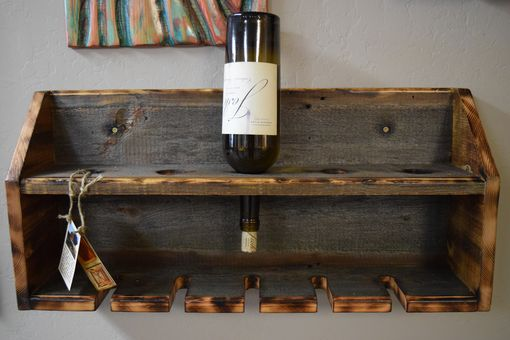 Custom Made Barn Wood Wine Rack