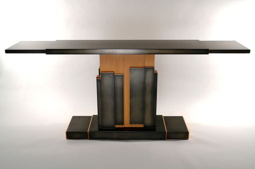 Custom Made Contemporary Fir And Steel Entry Console