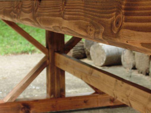 Handmade Reclaimed Wood Chevron X Style Farmhouse Table By