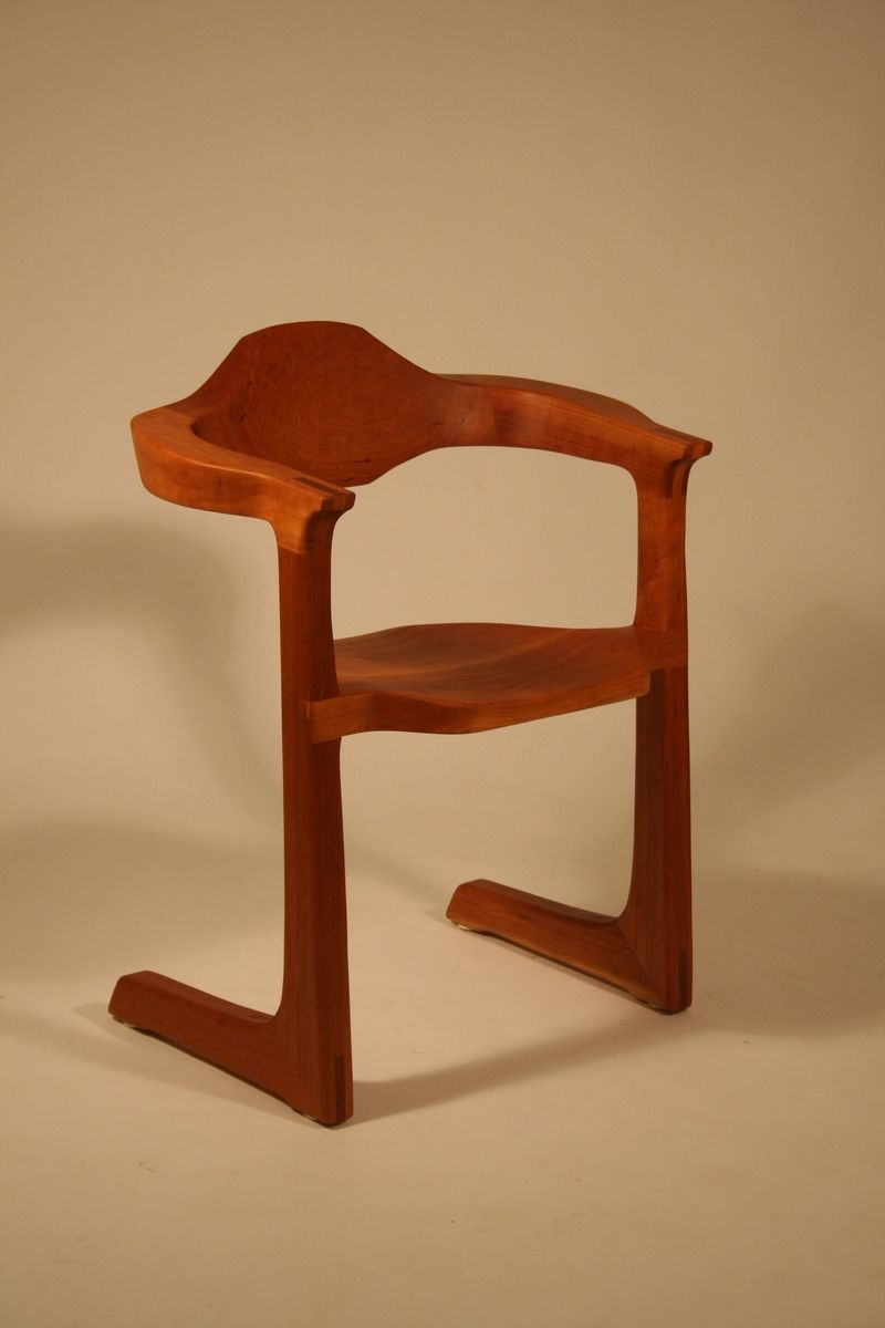 Hand Made Sledfoot Armchair by Joseph Van Benten ...
