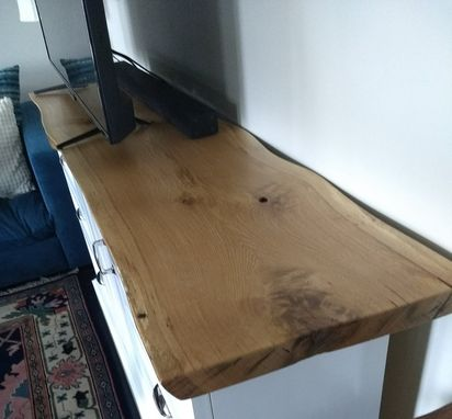 Custom Made Oak Live-Edge, Custom-Made Tv Stand