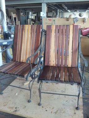 Custom Made Patio Rocking Chair Restoration In Walnut And Redwood