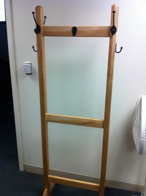 Custom Made Quilted Maple Coat Rack