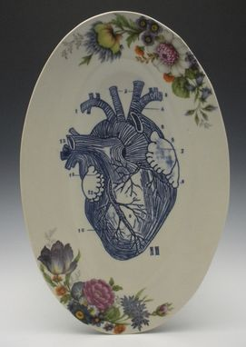Custom Made Reverse Anatomical Heart Oval Porcelain Serving Platter