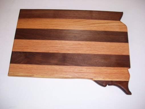 Custom Made South Dakota Cutting Board Made From Oak And Walnut