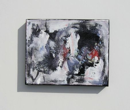 Custom Made Abstract Expressionist Acrylic Painting On Small Canvas