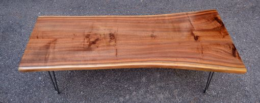 Custom Made Book Matched Raw Edge Black Walnut Coffee Table!