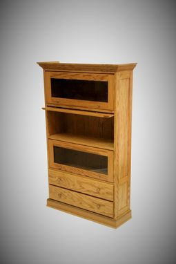 Custom Made Oak Barrister Bookcase