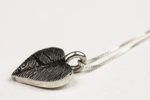 Custom Made Double Fingerprint Heart Necklace