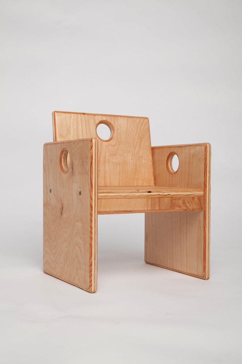 Hand Crafted Wooden Toddlers Chair By Fast Industries Llc
