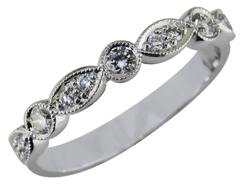 Custom Made Elegant Diamond Wedding Band