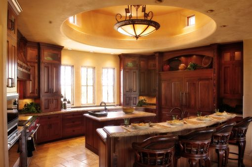 Custom Made Custom Mahogany Cabinetry