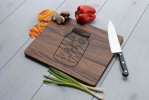 Custom Made Personalized Cutting Board, Engraved Cutting Board, Custom Wedding Gift –- Cb-Wal-Charlie&Elaine