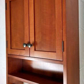 Cherry Hanging Bathroom Cabinet