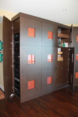 Custom Made Gold Award Media Wall Unit