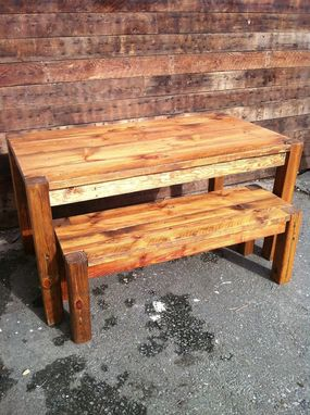 Custom Made Reclaimed Pine Harvest Table