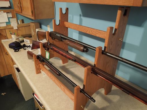 Custom Made 5 Gun Rack Display Unit