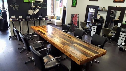 Custom Made Conference Table - Reclaimed Materials