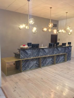 Custom Made Brass Hotel Reception Counter