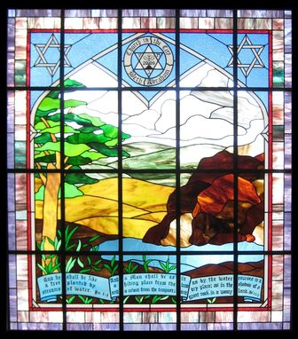 Custom Made Messianic Church Stained Glass