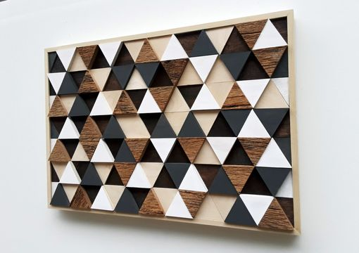 Custom Made Triangle Art, Geometric Wall Art, Wood Art, Wood Wall Art, Rustic Wall Art