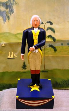 Custom Made Carving/Sculpture Of George Washington