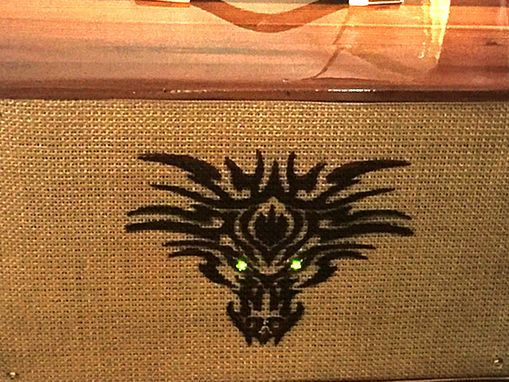 "Custom Made Ashen ""Wild"" 112 Hand Made Boutique Guitar Cabinet W/ Ev12l Leds"