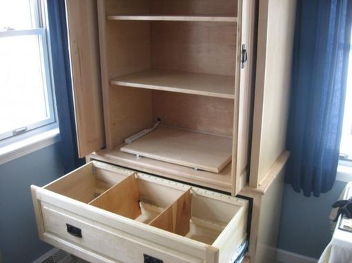 Custom Made Maple File And Printer Cabinet