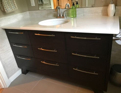 Custom Made Sleek Modern Vanity