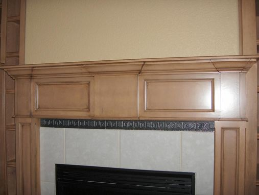 Custom Made Maple Mantel And Entertainment Center