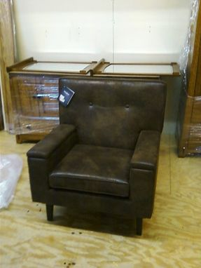 Custom Made I-Glyde Low Back Designer Glider In Faux Leather