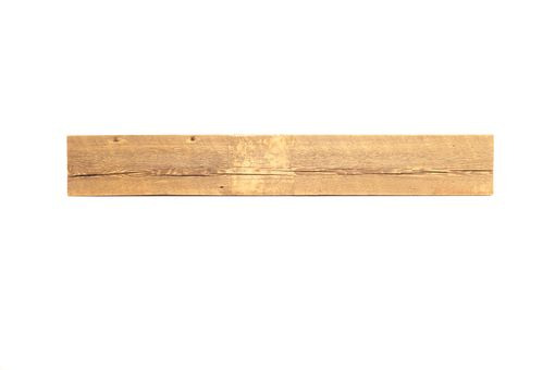Custom Made Reclaimed Wood Fireplace Mantel - 53 3/4 Inch Industrial Sawn (Storiedboards) #160001r