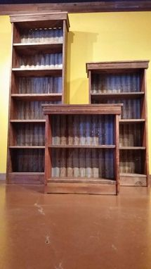 Custom Made Rustic Reclaimed Barnwood Bookcase / Shelves