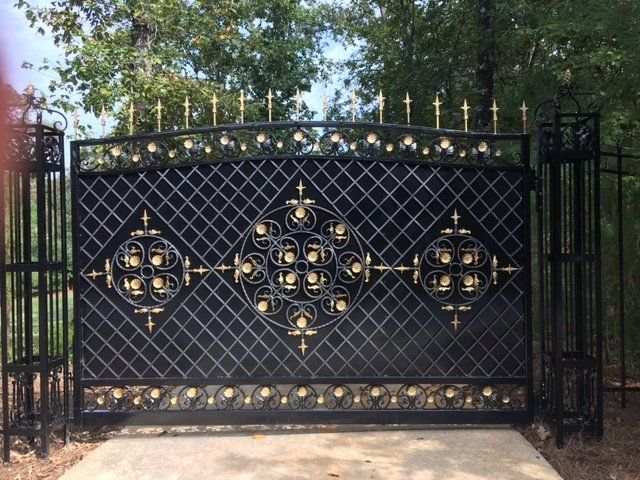Hand Made Grand Entry Gates By Awesome Iron And Steel