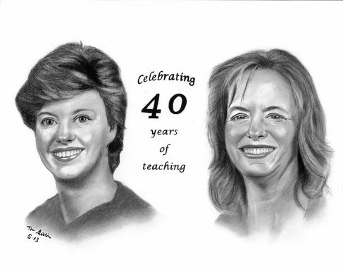 Custom Made Portrait Drawing (Retirment Gift)